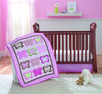 2020 New Style Luxury Fashion Cute Breathable Lightweight Soft Cotton 4 Piece Crib Bedding Set for Baby Girls