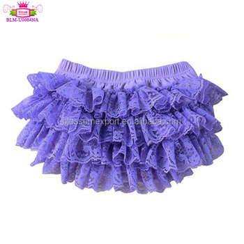 2019 Girl lace all around ruffle cloth diaper soft cotton wholesale kids girl bloomers diaper cover