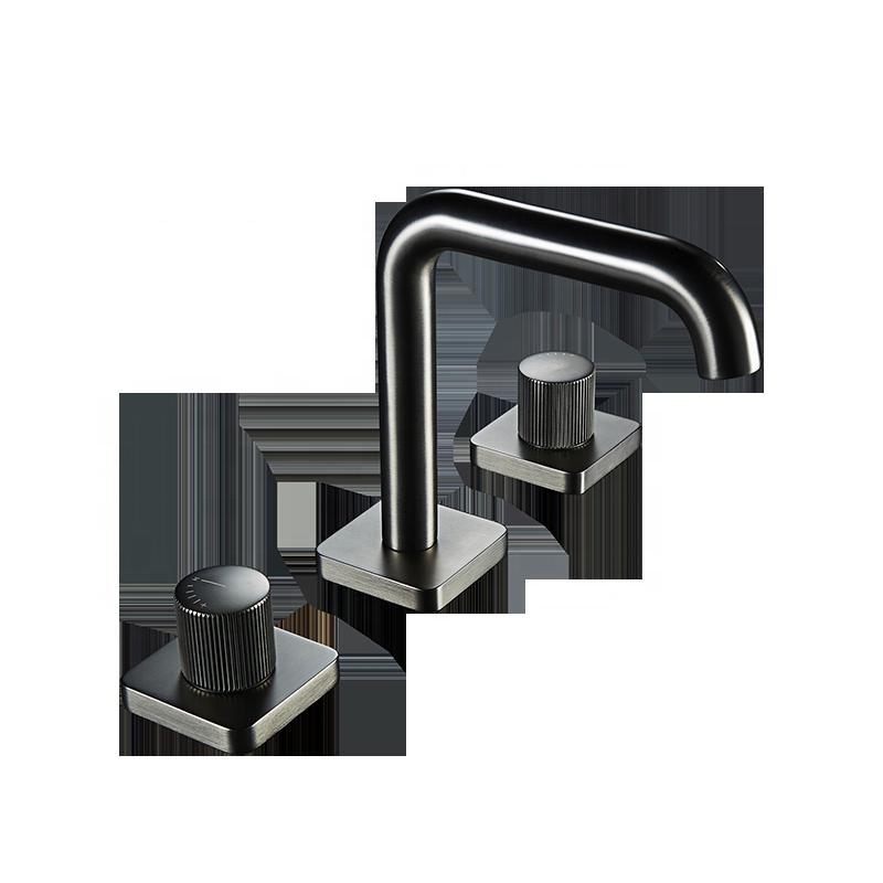 UPC 3 Holes Mixer Taps Dual Handle Faucet Mixer Widespread Basin Faucets