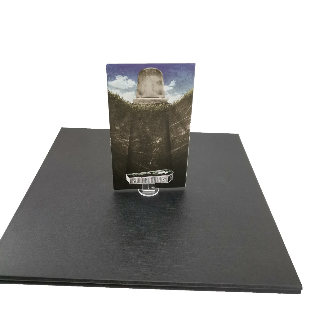 Plastic Playing Card Holder Wholesale For Board Game Card Game With Black Color And Transparent