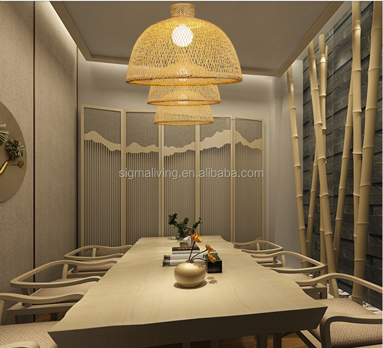 European restaurant rattan hotel tea room club homestay decoration bamboo lamp