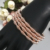 2020 New 24K rose gold spring bead bracelet jewelry for lady