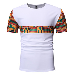 t shirt cool classic combinations clothes 100% cotton african print shirts printed tshirts for men ropa africana para hombres