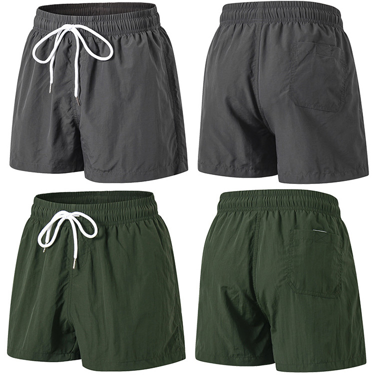 Wholesale classic fit drawstring summer men casual beach shorts