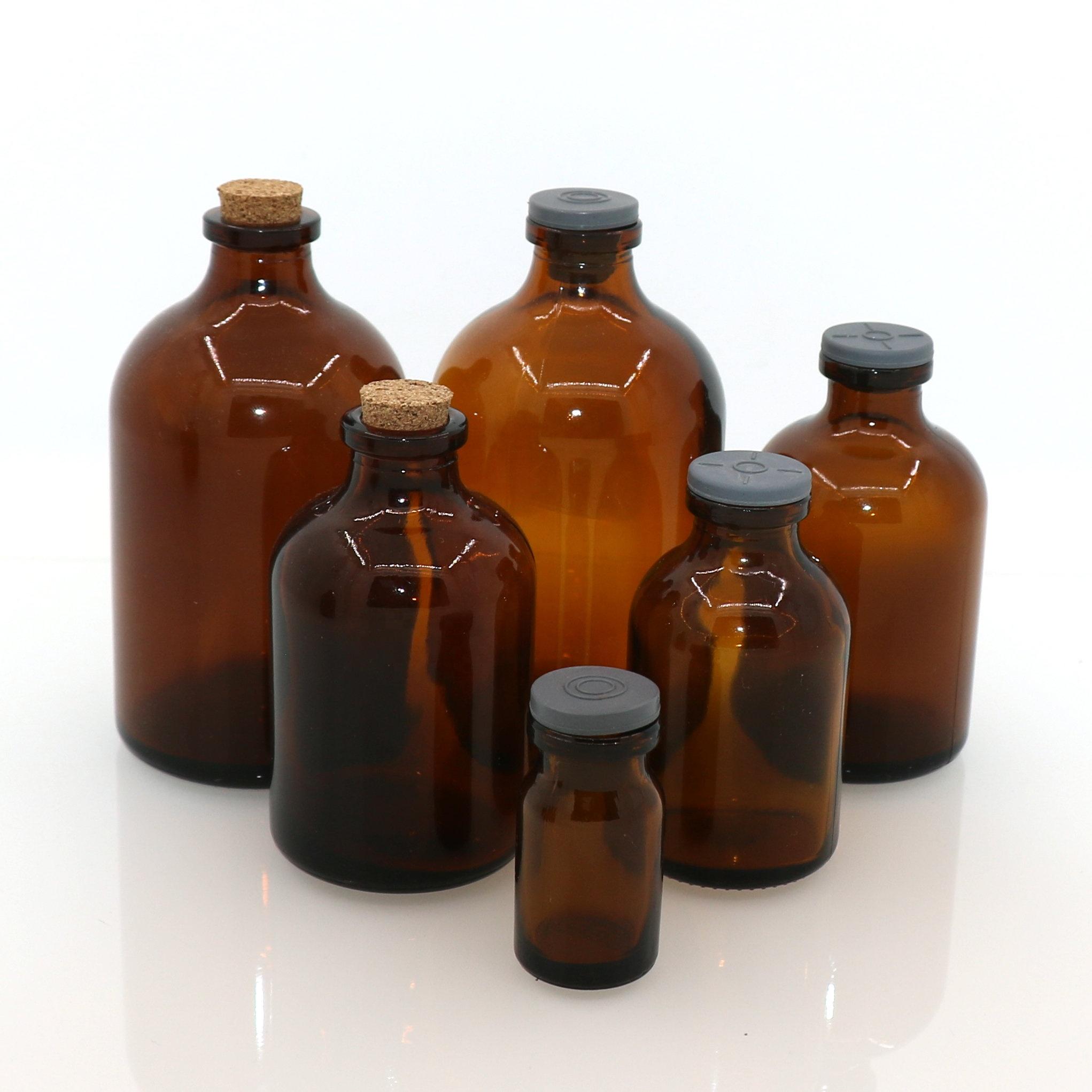 Factory Pharmaceutical Glass Vial Usp Type II Penicillin Vial for Medicine Use 7ml 10ml 20ml 30ml 50ml 100ml