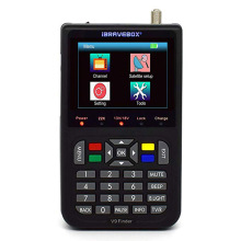Digitale H.265 DVB-S/S2 HD FTA V9 Satellite <span class=keywords><strong>Finder</strong></span> 3,5 Inch LCD Display Eingebauter 3000mAh Batterie Signal Meter palette Sat <span class=keywords><strong>Finder</strong></span>