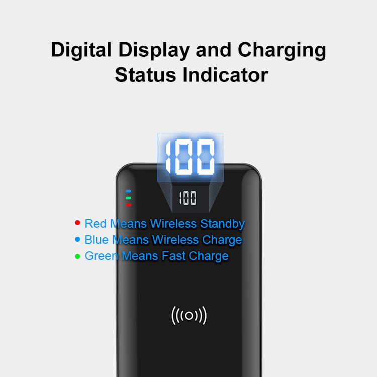 2020 New Arrival 15W Fast charge power bank 10000mAh Wireless power bank