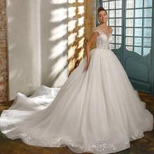 Свадебное бальное платье Ashley Carol, элегантное короткое платье принцессы с открытой спиной и аппликацией из бисера, Vestido De Noiva, 2020(China)