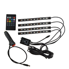 DC 12V 9smd 5050 4pcs RGB remote Disco Music control car led Atmosphere Ambient floor foot strip light