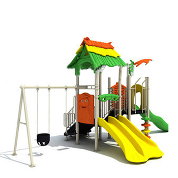 Baby Patio Swing Plastic Kindergarten Outdoor Play Equipment Set, Children Games Outdoor Playground Equipment
