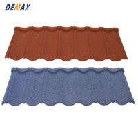 cheap stone coated steel blue orange bond roof tile for building material