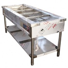 Stainless Steel Food Warmer Commercial Hotel Buffet Serving Equipment Electric Hot Food Warmer Countertop Stainless Steel Steam Table