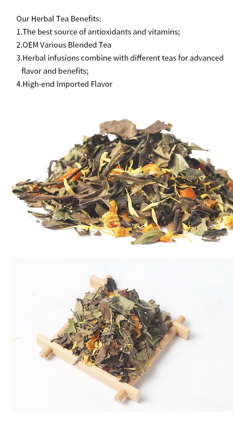 Chinese White Peony Tea Cranberry Kumquat Blending Chrysanthemum White Tea Flavored - 4uTea   4uTea.com
