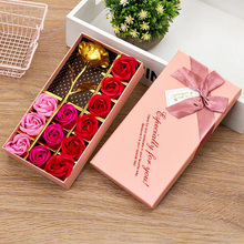 2020 Creative Gift 12 STUKS Rozen Zeep Bloemen Valentijnsdag Bladgoud Rose Top Kwaliteit Best Selling Wedding Party giveaways