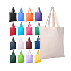 Custom Print Reusable Recycled Cotton Canvas Tote Shopping Bag