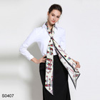 wholesale women silk long scarf twill neck head accessory tie hot