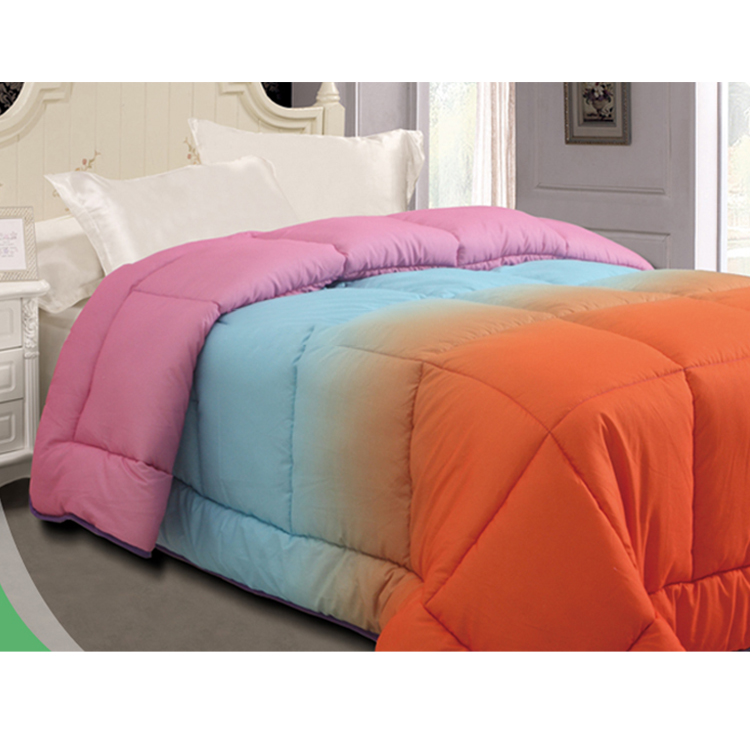Cheap Price Reversible Edredon colores rainbow duvet soft microfiber rainbow comforter