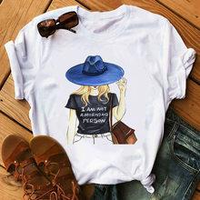 Мягкая эстетичная модная футболка с коротким рукавом и принтом для девочек, корейское платье, летняя одежда для женщин, футболка(China)