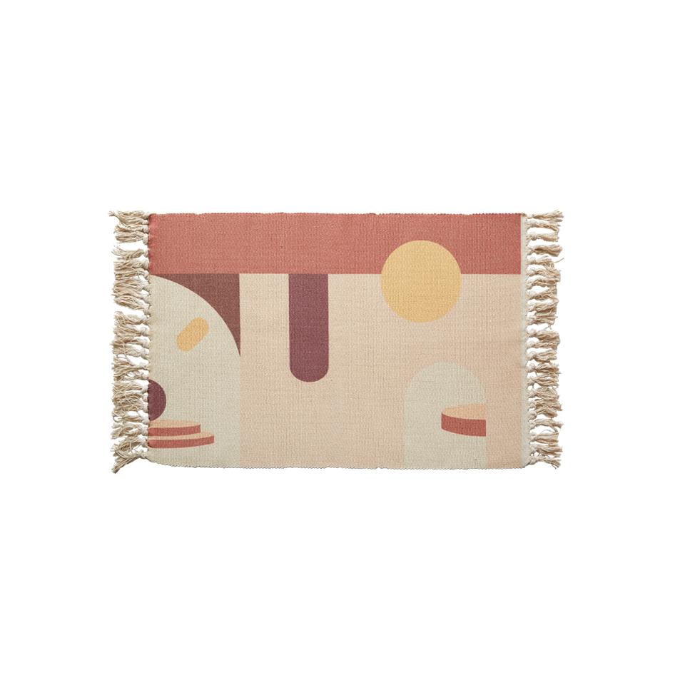 RAWHOUSE dokuma pamuk baskılı halı halı oturma odası için Amazon ucuz mat kilim yatak odası için