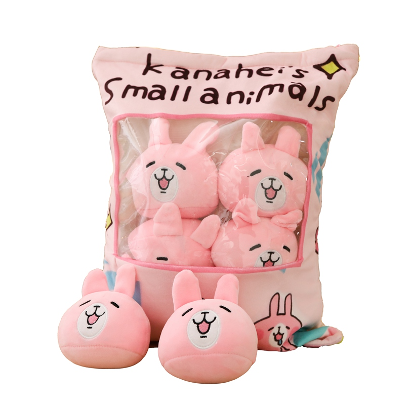Hot Sale Large Bag of <strong>Rabbit</strong> Stuffed Dolls Cat Plush <strong>Rabbit</strong> Cushion Pillow for Kids