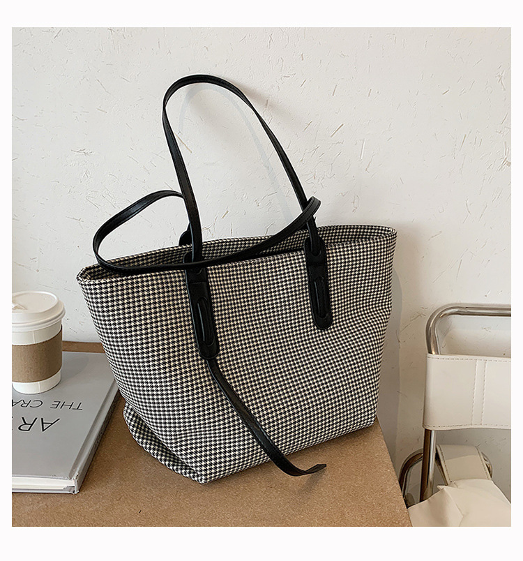product-High quality Female new shoulder bag 2020 autumn and winter new canvas bag fashionable large-1