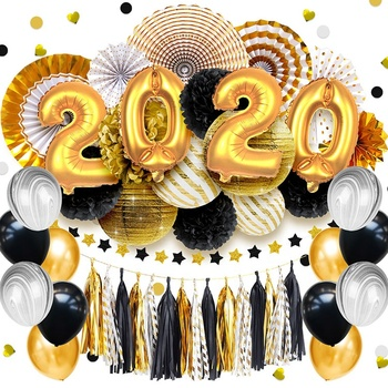 Nicro New Products Graduation Party Set 2020 Happy New Year Event Party Decoration Supplies