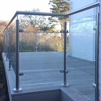High quality factory direct price strong stainless steel glass railing