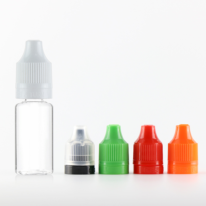 10 ml plastic bottle tpd cbd oil bottle with childproof tamper lock cap