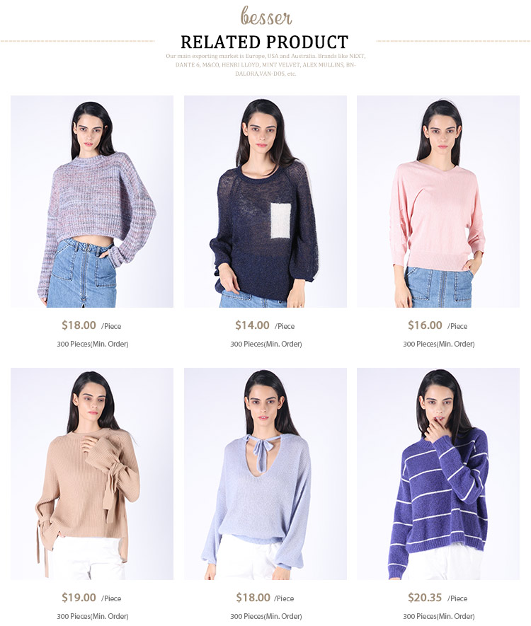 Wholesale custom fashion design computer knitted sweater ladies