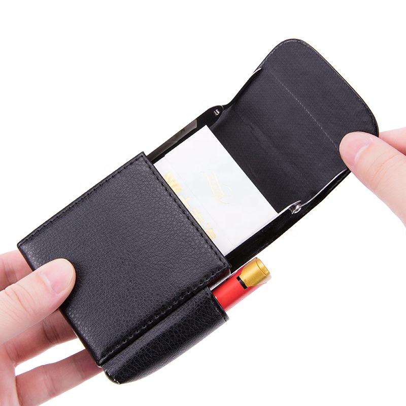 2020 crocodile texture carbon fiber PU Leather cigarette and lighter case bag