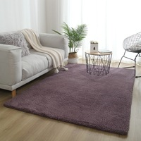 Household modern bedroom cotton shaggy pvc custom area rug carpet modern