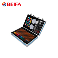 Beifa 145PCS Aluminum Box Packing Water Color Oil Pastel Color Pencil Drawing Set For Children, School Kids Art Set