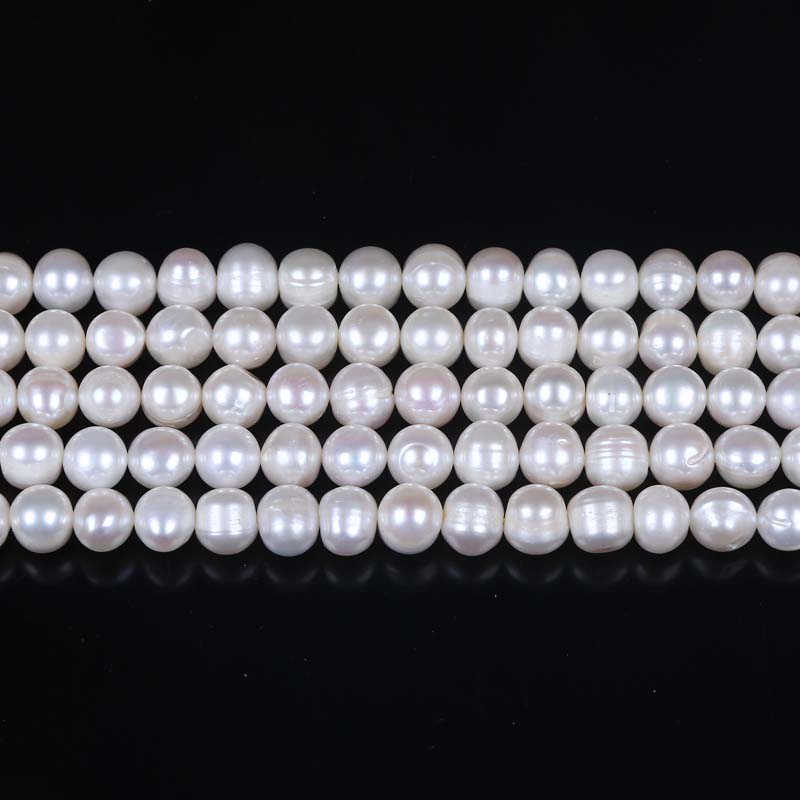 8-9mm B Grade freshwater pearl potato loose pearl strand