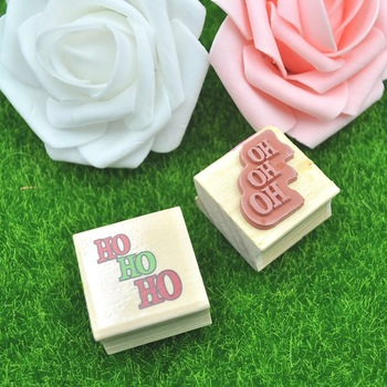 Wholesale Good Quality Pattern Mini Cute Number And Sign Laser Cutting Wood Craft Rubber Stamp Set For Children