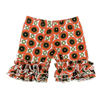 hot sale new born baby's clothes tomato pattern printed ruffle girls' shorts