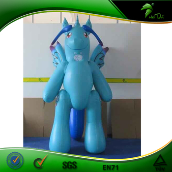 Hongyi Inflatable Cartoon Anime Figure Mascot Suit Double Layer Inflatable Moving Rainbow Horse Costume