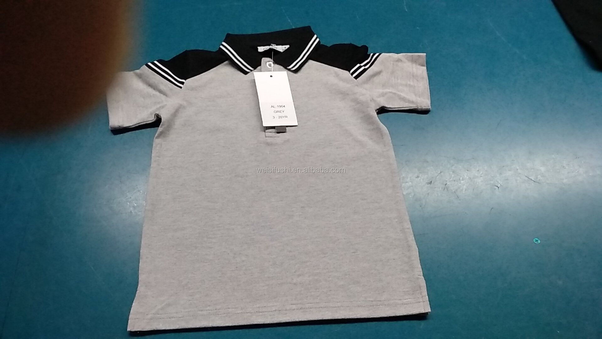 OEM customize fashion kids boys cotton polyester summer polo shirts