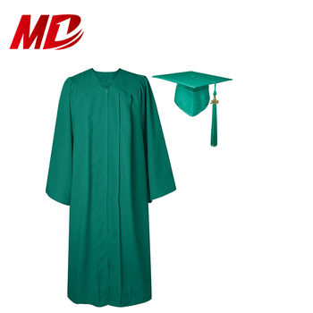Economy Bachelor Graduation Cap and Gown Matte Emerald Green
