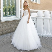 Inexpensive Tradition Sleeveless Sweetheart Beauty Bridal Wedding Dress