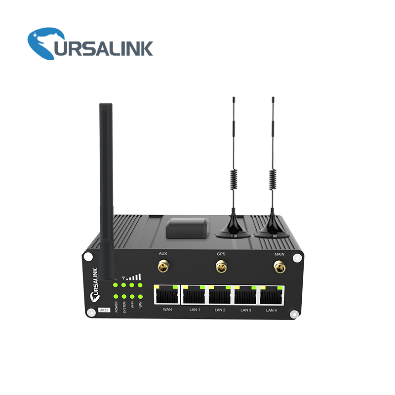 UR35 3G 4G Industriale M2M Cellulare VPN Router PoE PSE RS232 RS485 WiFi GPS Python MQTT HTTP TCP/IP