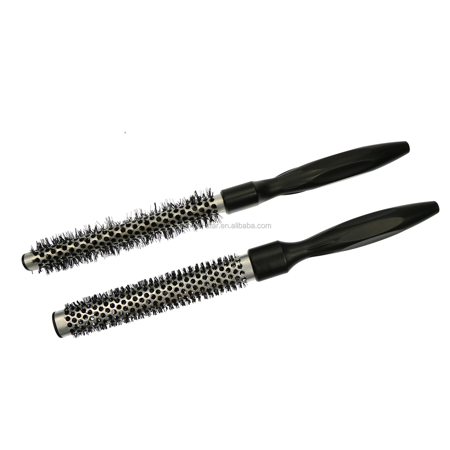 Private Label Professional Salon Nano Ionic  Longer Aluminum  Barrel Curling Ceramic Hair Brush