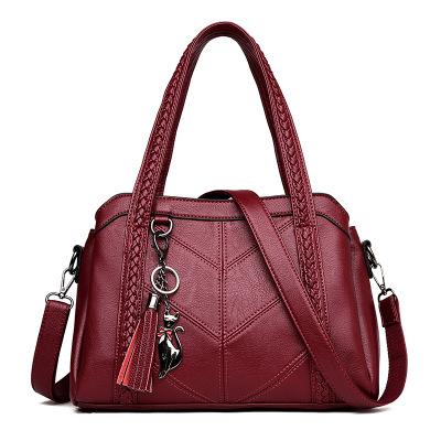 패션 캐주얼 토트 가죽 핸드백 숄더 가방 저렴한 가격 crossbody 가방