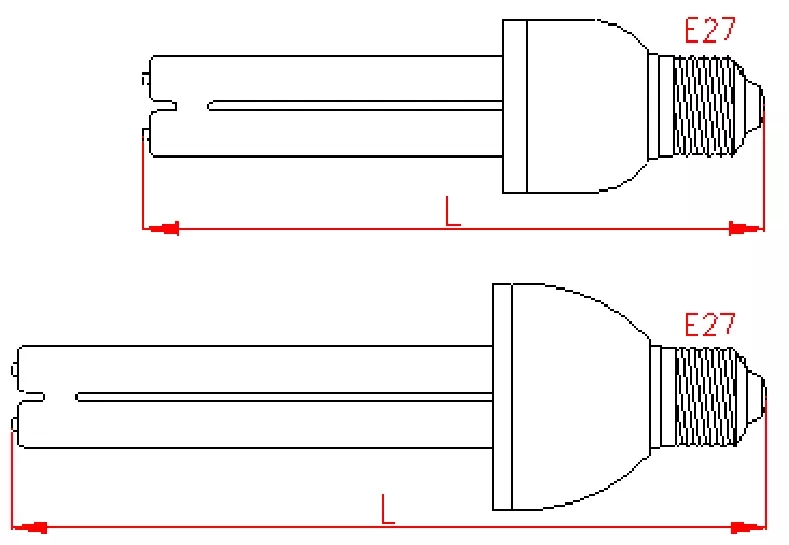15W 25W E27 Germicidal UV tube Lamp Sterilizing Led uv bulb