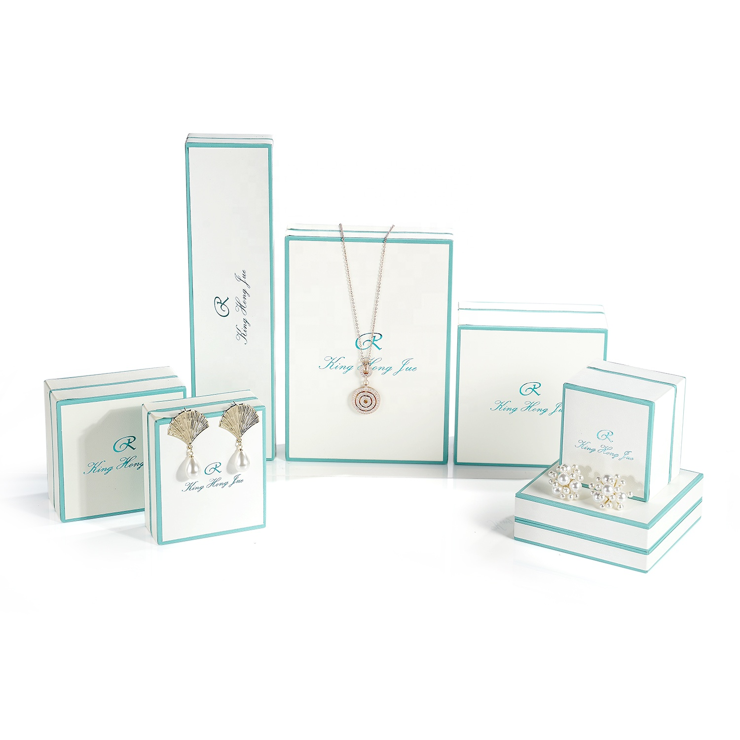 High-end jewelry packaging boxes can be customized exclusive brand logo