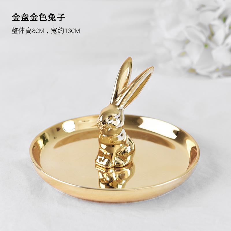 Düğün dekoratif seramik çift kalp şekli nişan yüzük tablası