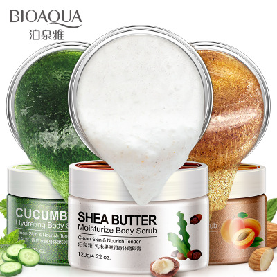 Groothandel Bioaqua Exfoliante Voetverzorging Diepe Reiniging Whitening Amandel Komkommer Shea Butter Body Scrub