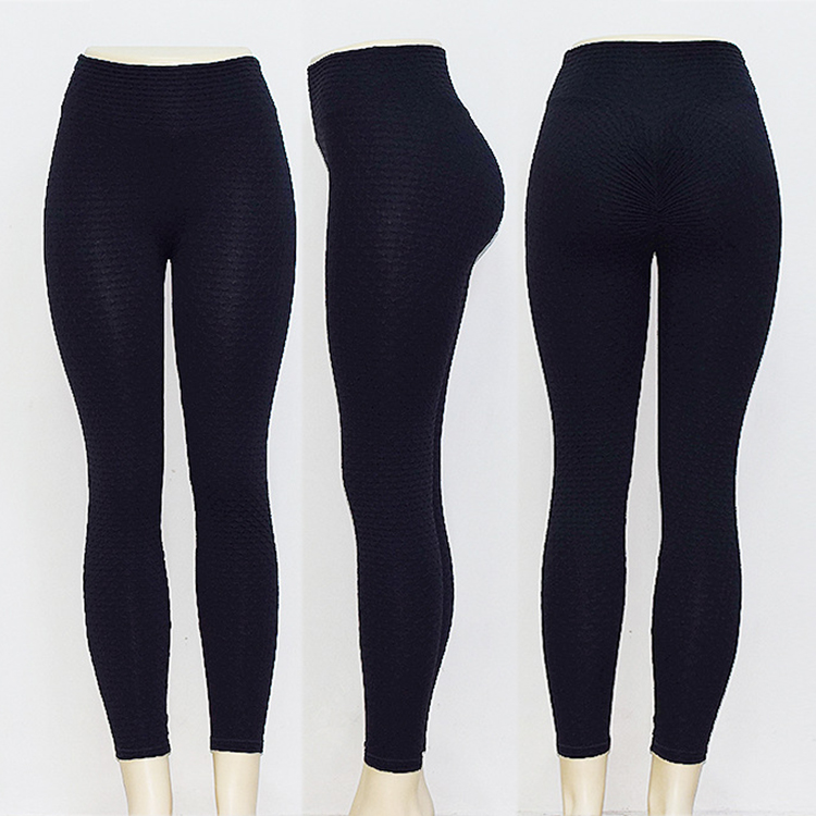 0051519 Wholesale High Waist Buttock Exercise Womens Casual Pant Solid Color Tight Seamless Fitness Yoga Pants