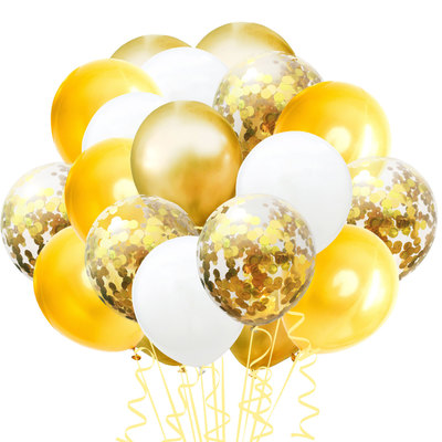 Wholesale factory supplies gold bachelorette party decorations latex balloons set