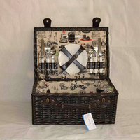 Insulated Basket Wicker Small Picnic Baskets Picnic Basket Set For 2