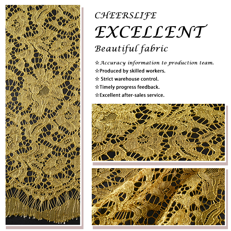 2019 African Hot Sale Fancy Gold Lace Fabric For Fancy Saree Garment
